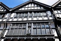 Фасад здания Tudor, Честер Стоковая Фотография RF