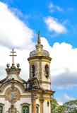 Фасад и колокольня старой церков Стоковые Изображения