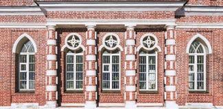 Фасад кирпича в Музе-запасе Tsaritsyno moscow Россия Стоковое Фото