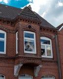 Фасад кирпича дома Стоковое Изображение