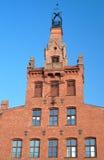 Фасад красного кирпича здания Стоковое фото RF