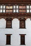 Фасад монастыря в Тхимпху, столицы Trashi Chhoe Dzong Бутана Стоковое Изображение