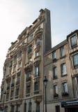 Фасад дома на квадрате пантеона в Париже Стоковое Изображение