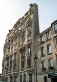 Фасад дома на квадрате пантеона в Париже Стоковые Фото