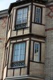 Фасад дома на квадрате пантеона в Париже Стоковое Фото