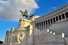 Фасад памятника Venezia Рима Vittorio Emanuele аркады Стоковая Фотография RF