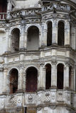 Фасад ренессанса на замке Blois стоковое изображение rf