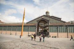 Фасад рынка с понижательной тенденцией, Барселона Стоковая Фотография