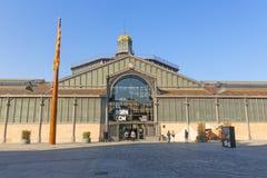 Фасад рынка с понижательной тенденцией, девятнадцатый век Готический квартал ба Стоковое Фото