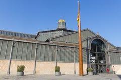 Фасад рынка с понижательной тенденцией, девятнадцатый век Готический квартал ба Стоковые Фото
