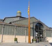 Фасад рынка с понижательной тенденцией, девятнадцатый век Готический квартал ба Стоковые Изображения