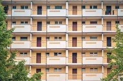 Фасад селитебного здания Стоковое Фото