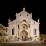 Фасад собора Вероны Стоковое фото RF