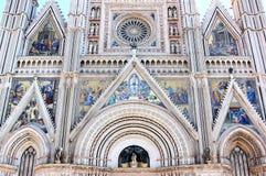 Фасад собора в Orvieto, Италии Стоковые Изображения RF