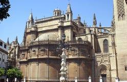 Фасад собора Севильи в Испании Стоковое Изображение RF