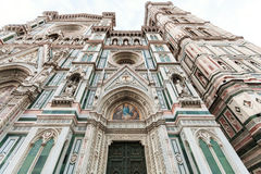 Фасад собора Флоренса в утре Стоковое Фото