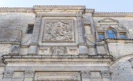 Фасад собора Baeza, Jaen, Испания Стоковые Изображения RF