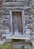 Фасад старого рахитичного деревянного здания Стоковое Изображение RF