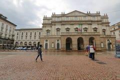 Фасад театра La Scala, милан, Италия стоковое изображение rf