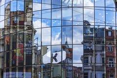 Фасад торгового центра Galeria Katowicka в Катовице стоковая фотография rf