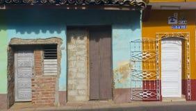 Фасад 2 Тринидада, Кубы стоковое фото