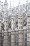 Фасад церков Вестминстерского Аббатства, Лондона Стоковые Изображения RF