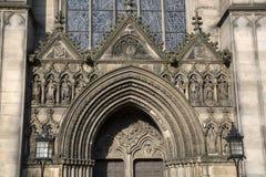 Фасад церков собора St Giles; Королевская миля; Lawnmarket; Edi Стоковые Фотографии RF