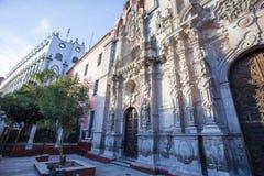 Фасад церков Templo de Ла Compania de Иисуса в Гуанахуате, Мексике Стоковые Изображения RF