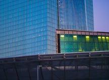 Фасад штабов Европейского Центрального Банка в Франкфурте Стоковое Изображение