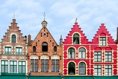 Фасады в Brugge стоковое изображение