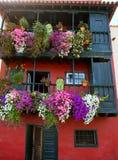 Фасады дома Santa Cruz de Ла Palma колониальные Стоковая Фотография
