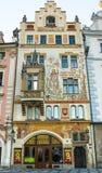 Фасады домов в старом городке Стоковая Фотография RF