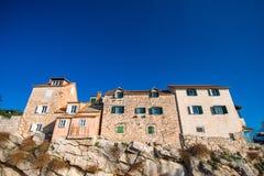Фасады старинных зданий в Хорватии Стоковые Фотографии RF