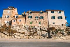 Фасады старинных зданий в Хорватии Стоковые Изображения RF