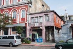 Фасады старых зданий Стоковые Фотографии RF