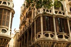 Фасады Palma de Mallorca Стоковое Изображение RF