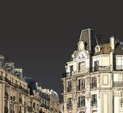 фасады paris Стоковые Фото