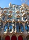 Фасад Batllo Касы Барселоны Gaudi Стоковое Изображение RF