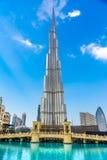 Фасад Burj Khalifa, Дубай Стоковое Изображение RF