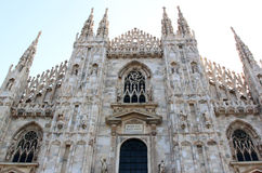 Фасад di Милана Duomo, милана, Италии Стоковое Изображение