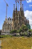 Фасад Sagrada Familia Барселона Испания Стоковая Фотография RF