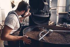 Фасоли жизнерадостного работника контролируя охлаждая коричневые Стоковые Изображения RF