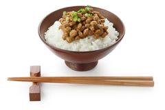 фасоли заквасили сою риса еды японскую Стоковая Фотография RF