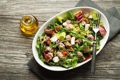 Фасоли и сыр салата салата тунца Стоковые Фотографии RF