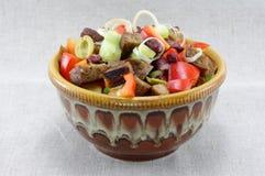 фасоли обваливают mouthwatering tomatoe в сухарях салата Стоковая Фотография