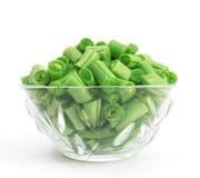 фасоли прервали зеленый цвет Стоковое Изображение RF