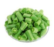 фасоли прервали зеленый цвет Стоковые Фотографии RF