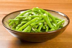 фасоли сварили зеленый цвет чеснока Стоковое Фото