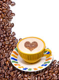 фасоли coffee cup Стоковая Фотография RF