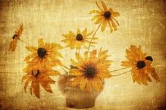 фасонируемая предпосылка цветет старая Стоковое Изображение RF